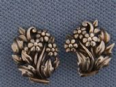 Sterling Silver Floral Earrings - Vitnage Clip On style   (SOLD)